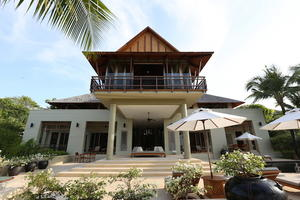 Traditional Thai Style Pointed Roof Villa